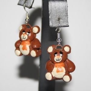 Vintage Teddy bear earrings
